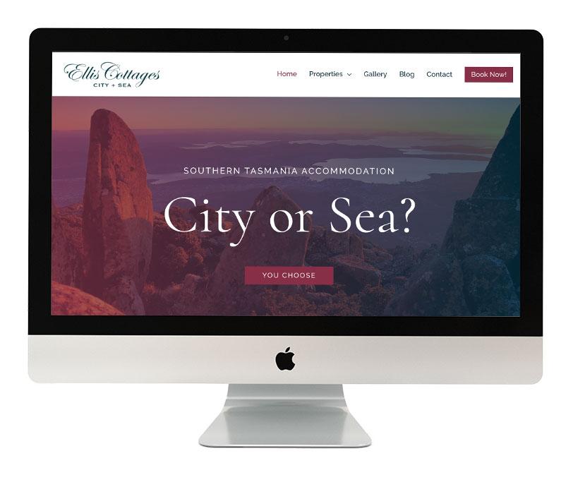 Ellis Cottage Website Design